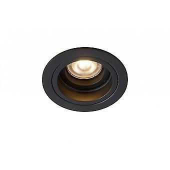 Lucide Embed Modern Round Metal Black Recessed Spot Light
