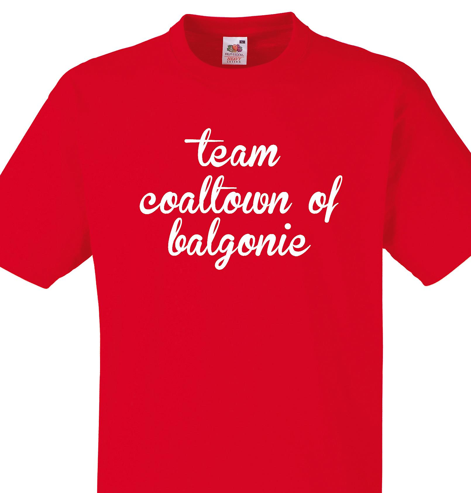Team Coaltown of balgonie Red T shirt