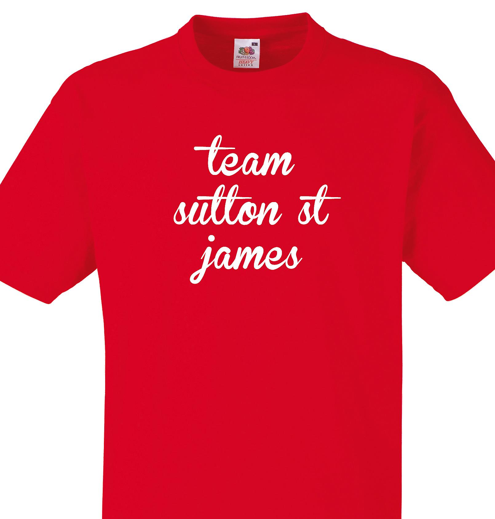 Team Sutton st james Red T shirt