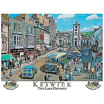 Keswick, The Lake District - Large Metal Sign 400mm x 300mm (og)