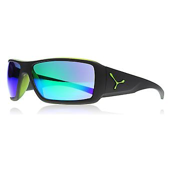 Cebe CBUTOPY4 Matte Black / Green Utopy Wrap Sunglasses Lens Category 3 Lens Mirrored Size 65mm