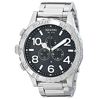 Nixon quartz chronograph men's watch with stainless steel band _ 1000 A083
