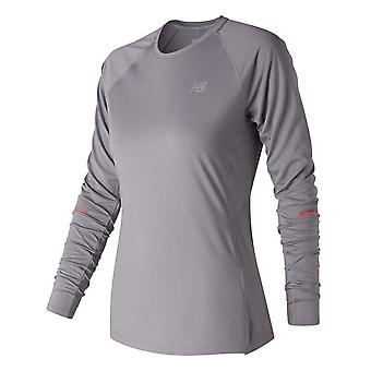 New Balance Womens Ice Long Sleeve Tee Ladies Crew Neck T-Shirt