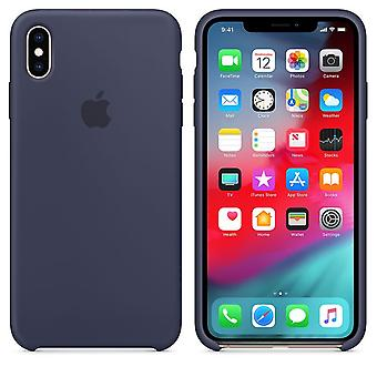 Original packaging Apple silicone Micro Fiber cover case for iPhone XS Max - mitternachblau