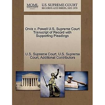 Orvis v. Powell U.S. øverste domstol udskrift af post med støtte processkrifter af US Supreme Court