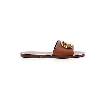 Valentino Garavani Brown Leather Sandals