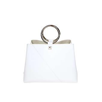 Salar weißem Lederhandtasche