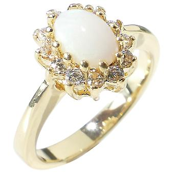 Ah! Jewellery Semi Precious Gemstone Opal Gold Filled Ring
