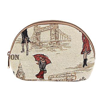 Miss london women's cosmetic bag by signare tapestry / cosm-msln