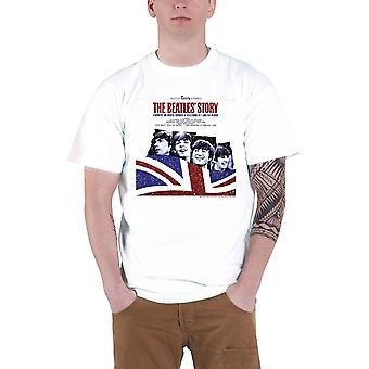 The Beatles T Shirt The Beatles Story Band Logo Official Mens New White