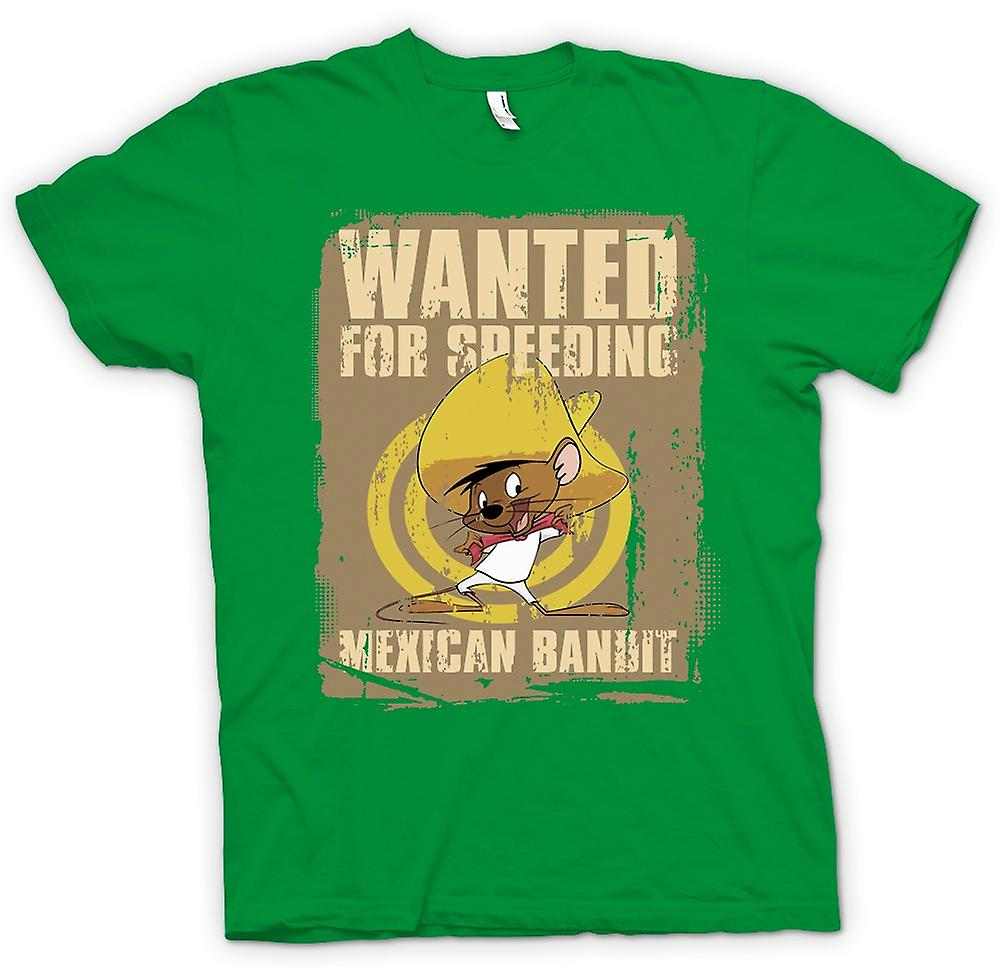 Mens T-shirt - Wanted For Speeding - Mexican Bandit