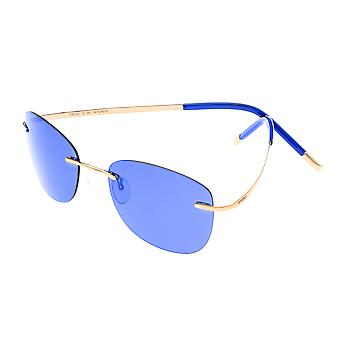 Breed Adhara Polarized Sunglasses - Gold/Blue