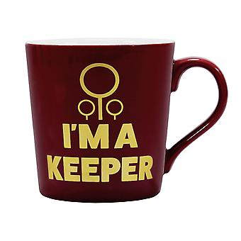 Harry Potter Cup Quidditch Keeper red/yellow, printed, 100% ceramic, capacity approx. 325 ml..