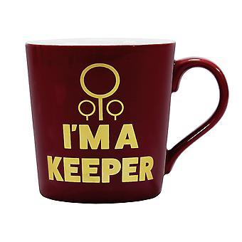 Harry Potter Tasse Quidditch Keeper rot/gelb, bedruckt, 100 %  Keramik, Fassungsvermögen ca. 325 ml..
