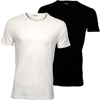 Paul Smith 2-Pack PS Crew-Neck T-Shirts, Noir/Blanc
