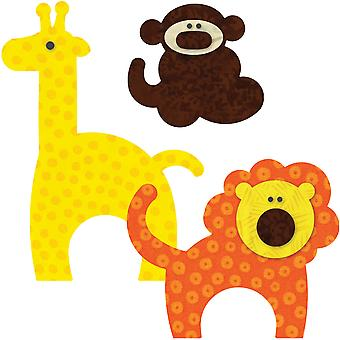 Go! This & That Fabric Cutting Dies Go! Zoo Animals 55369