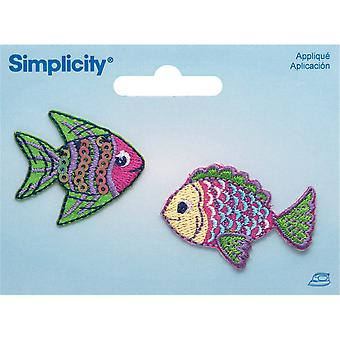 Tropical Fish Iron On Applique 1