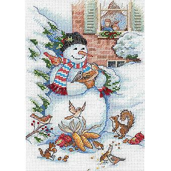 Gold Collection Petite Snowman & Friends Counted Cross Stitc 5