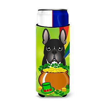 French Bulldog St. Patrick's Day Michelob Ultra Koozies for slim cans BB1971MUK
