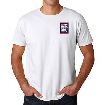 Royal Navy Flag Logo Official MOD - Ringspun T Shirt