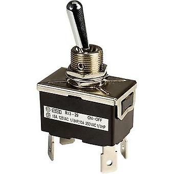 Toggle switch 250 Vac 10 A 2 x Off/On SCI R13-29F latch 1 pc(s)