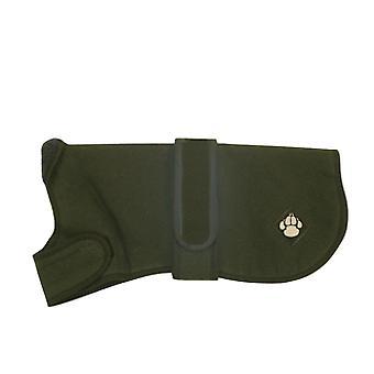 County Waxed Waterproof Dog Coat Green 70cm (28