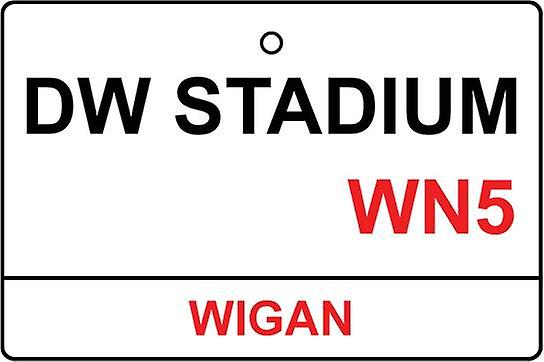Wigan / Dw Stadium Street Sign Car Air Freshener