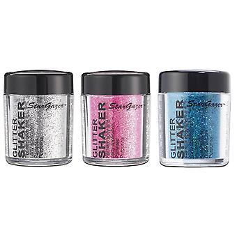 Stargazer Glitter Shaker Silver, Pink & Blue