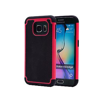 Shock proof case + stylus for Samsung Galaxy S6 Edge (SM-G925) - Hot Pink
