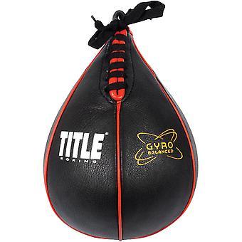 Título Boxeo giro equilibrado cuero entrenamiento velocidad saco - negro