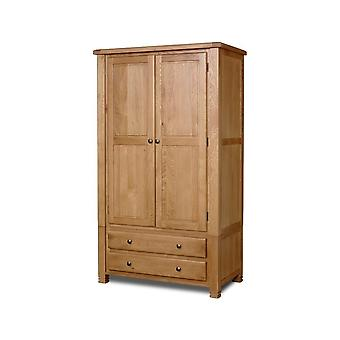 Birlea Woodstock 2 Door 2 Drawer Wardrobe Oak