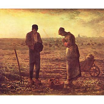 Jean Francois Millet - The Angelus Poster Print Giclee