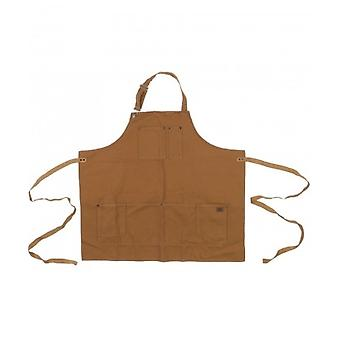 DICKIES Work Apron - Brown Duck One Size Pockets adjustable ties