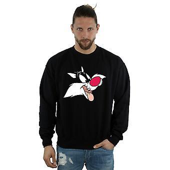 Looney Tunes Men's Sylvester Face Sweatshirt