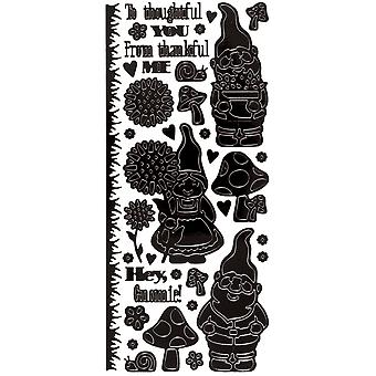Dazzles Stickers-Garden Gnomes-Black DAZ-2582