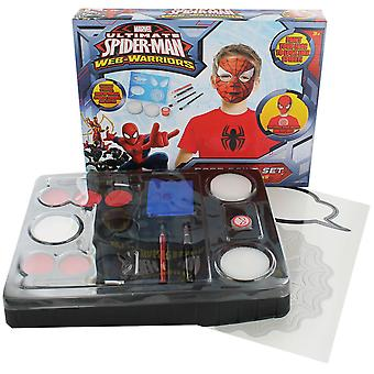 Ultimate SpiderMan Face Paint Set Party Kit Web Warriors Fancy Dress Accessory