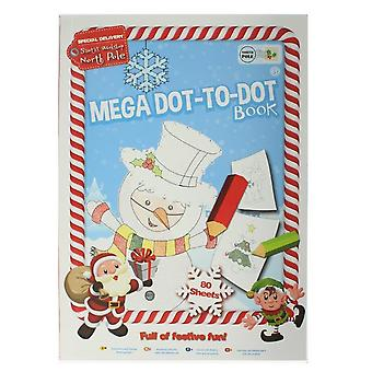 Grafix Mega Dot-To-Dot 80 Sheet Children's Festive Christmas Activity Book