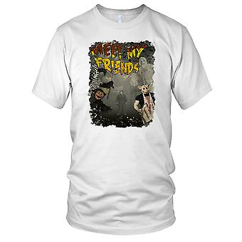 Meet My Friends Halloween Myers Horror Mens T Shirt