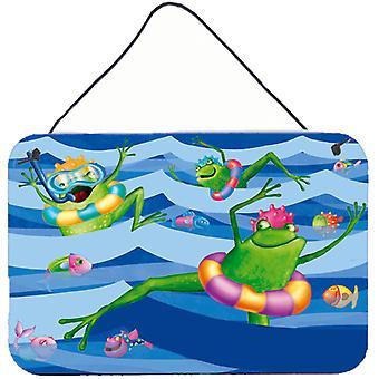 Carolines Treasures  APH0089DS812 Frogs Swimming Wall or Door Hanging Prints