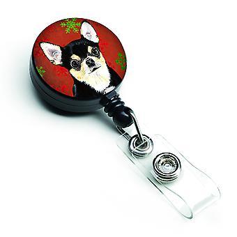 Chihuahua rød og grøn snefnug ferie jul løftbare Badge hjuls
