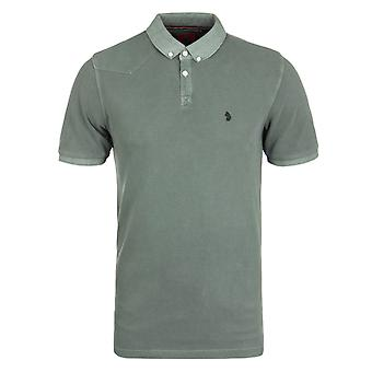 Luke 1977 Baskings Lux Moss Garment Dyed Pique poloshirt