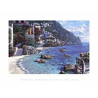 Capri Del Mar Poster Print by Howard Behrens (35 x 27)