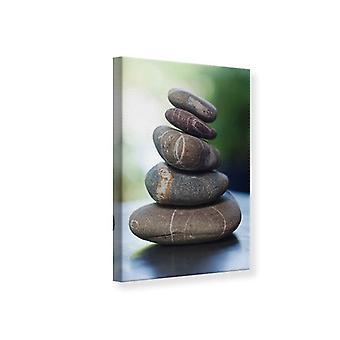 Lona impressão pilha de pedra