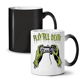 Console Gamer Death Play NEW Black Colour Changing Tea Coffee Ceramic Mug 11 oz | Wellcoda