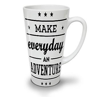 Everyday Adventure Funny NEW White Tea Coffee Ceramic Latte Mug 17 oz | Wellcoda