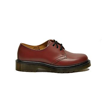 Dr. Martens women's 1461SMOOTHBORDEAUX Burgundy leather lace-up shoes