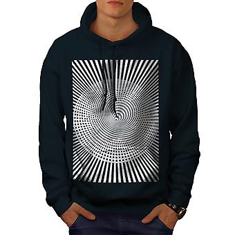 Pattern Stylish Fashion Men NavyHoodie | Wellcoda
