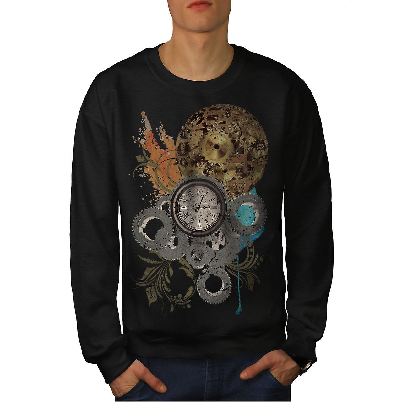 Horloge noirSweatshirt Cool impression hommes