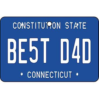 Connecticut - Best Dad License Plate Car Air Freshener