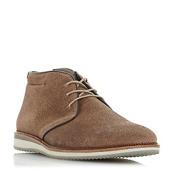Dune Mens CHADWELL Lace Up Chukka Boot en Taupe